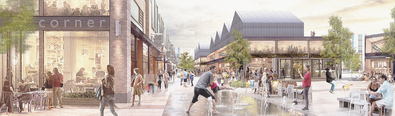 Re-invigorated High Street 3D concept visual